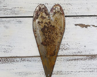 "Skinny Heart - 6"" Rusty Metal Heart - Make your own Sign, Gift, Art"