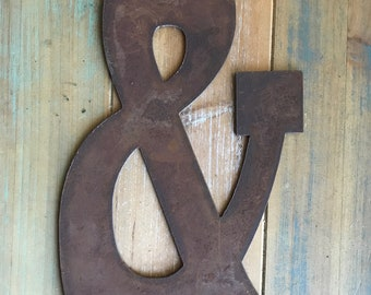 """AMPERSAND & - 8"""" Rusty, Rustic Metal Symbol - Make your own Sign, Gift, Art!"""