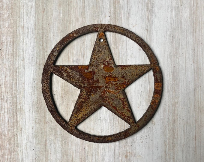 """Texas Star - 4"""" Rusty, Rustic Metal Star Shape - Make your own Sign, Gift, Art"""