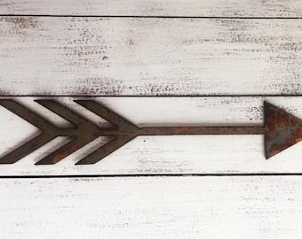 "Boho Arrow - 6"" Rusty Metal ARROW! Make your own Sign, Gift, Art!"