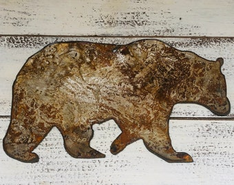 "Bear - 4"" Rusty, Rustic Metal Bear - Make your own Sign, Gift, Art!"