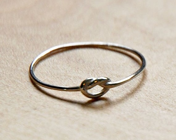 Knot ring, sterling silver love knot, stackable rings for women, promise ring, infinity ring, reef knot, best friend gift, promise ring