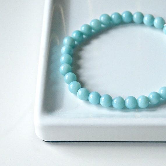 Amazonite bracelet, pale blue gemstone, stacking bracelet, boho jewelry, healing, chakra balancing, something blue bracelet, wedding jewelry