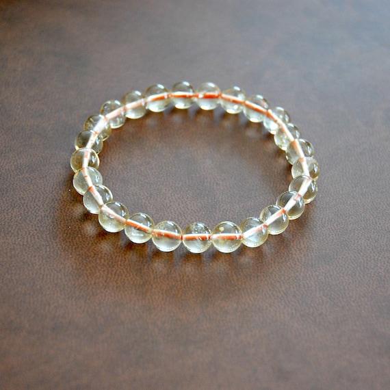 Yellow citrine gemstone bracelet, november birthstone, yellow bracelet, fall jewelry, beaded bracelet, stacking bracelet, christmas gift