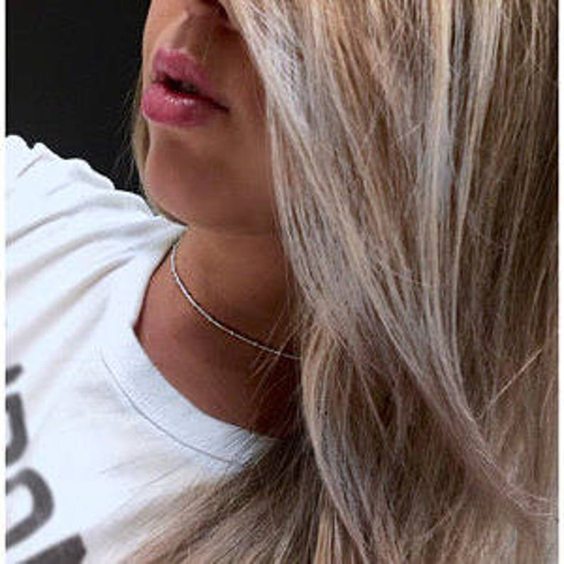 gold chain rose gold chain long necklace DIY Satellite chain necklace customize layering jewelry sterling silver chain beaded chain