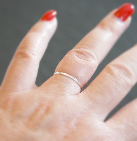 Silver ring, thin ring, sterling silver stacking ring, silver stacker, delicate rings for women, smooth ring, minimalist ring, simple ring