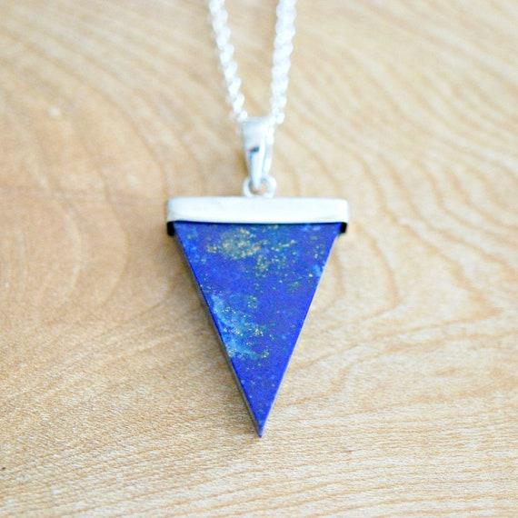 Gemstone triangle necklace