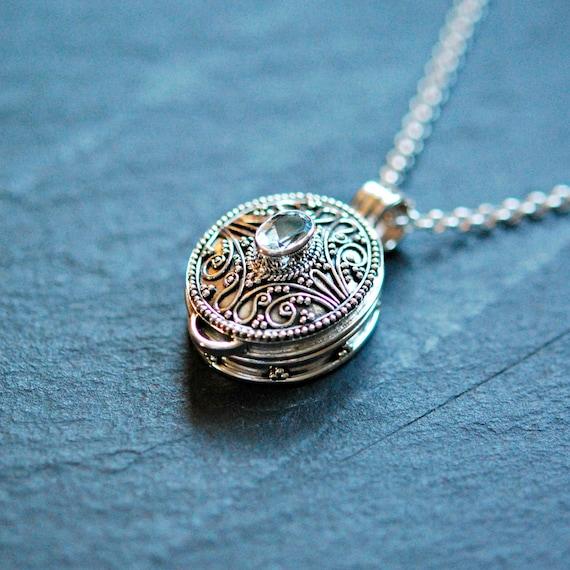 Sterling silver stash necklace