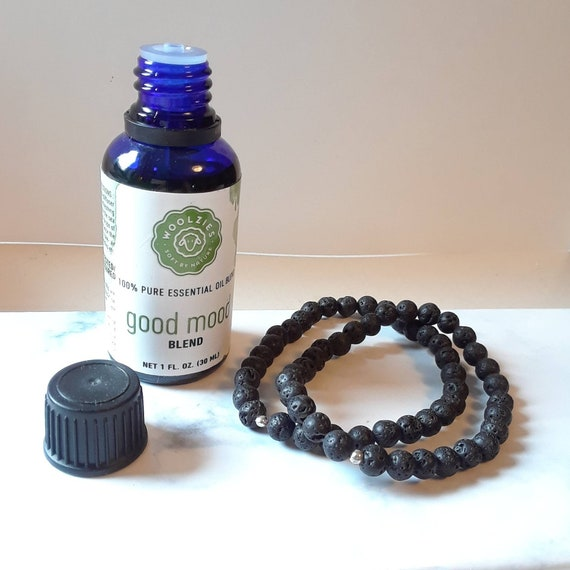 Lava bead bracelet, essential oil diffuser bracelet, black lava stones, black bracelet, black gemstone, anxiety bracelet, aromatherapy gift