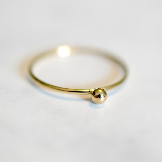 Gold ball ring, rings for women, gold stacking ring, skinny gold ring, rings for women, ball bead ring, thin gold ring, minimalist ring
