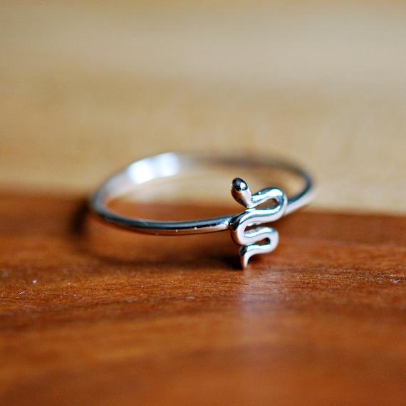Sterling silver snake ring, stacking rings for women, boho ring, lucky serpent, snake jewelry, minimalist ring, baby snake, cobra ring
