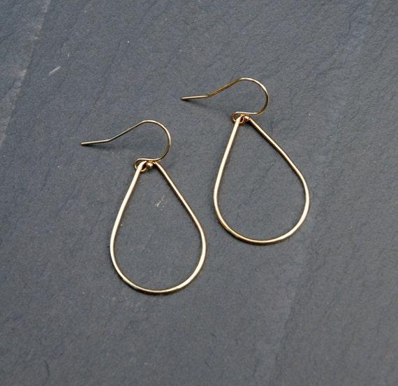 Teardrop earrings, gold earrings, gold hoop earrings, pear shape hoops, teardrop hoops, geometric earrings, sexy earrings, modern jewelry