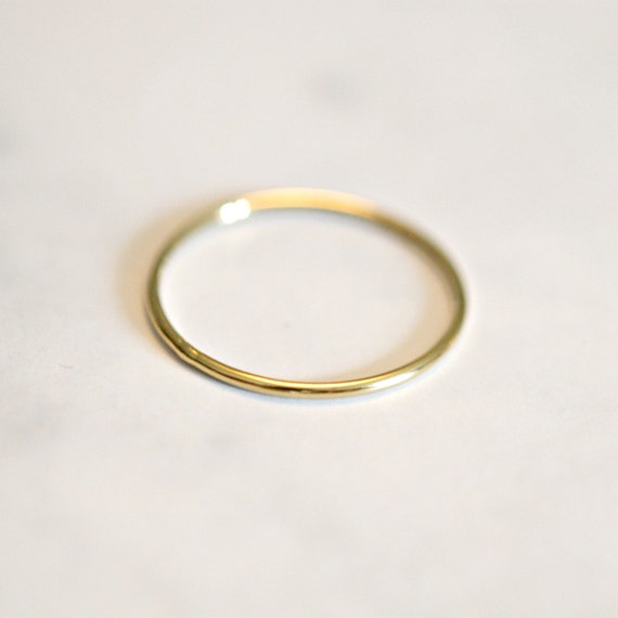Gold ring, thin ring, gold stacking ring, gold stacker, delicate gold ring, rings for women, polished ring, minimalist ring, simple ring