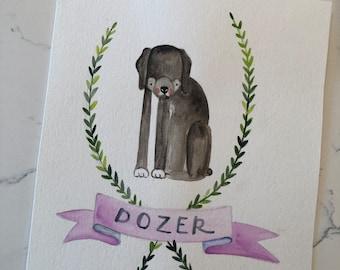 Pet Custom Watercolor