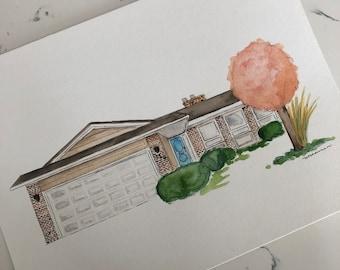 Custom Home Watercolour Painting