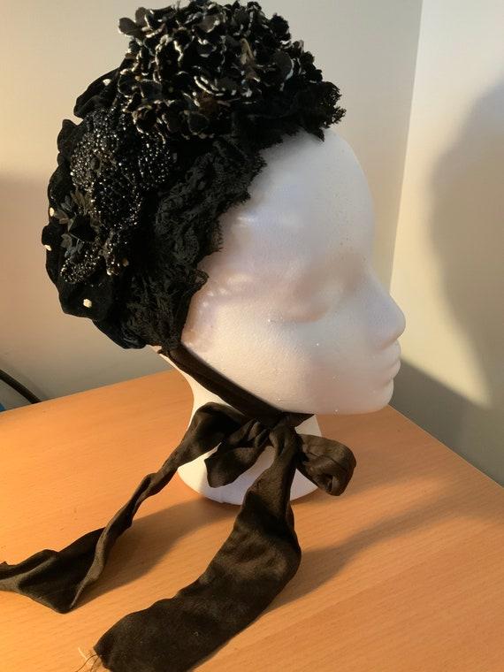Authentic Victorian Bonnet 1860s 1870s Godeys Ladi