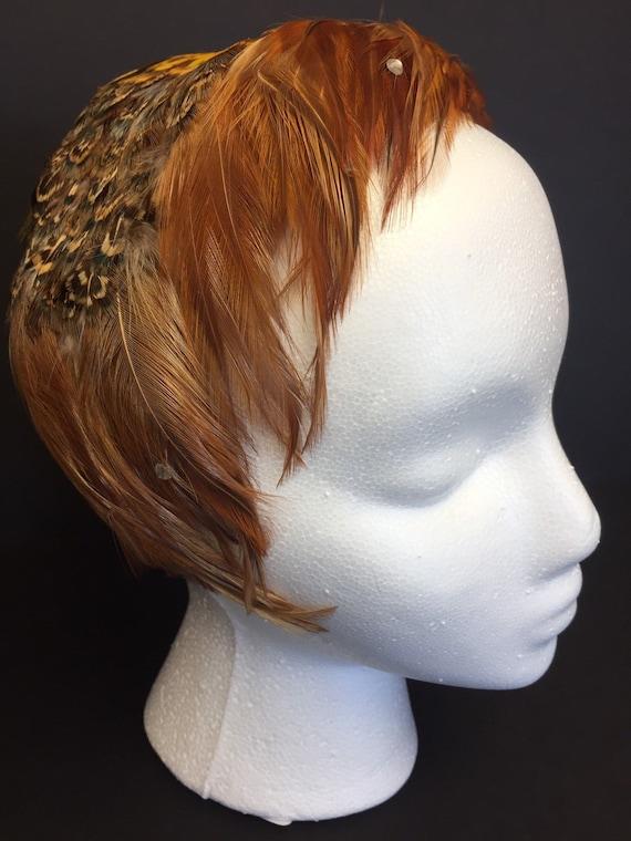 Glorious Vintage Feathered Hat Trés Chic 1950s Gla