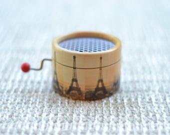Amelie Music Box Eiffel Tower. Hand Cranked Music Box.