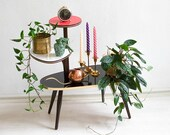 Mid-Century Plant Stand,Tiered Plant Stand,Mid Century Plant Stand, Plant Stand Tiered,Plant Stands Indoor,Vintage Plant Stand, Kidney Table