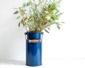 Dark blue enamel milk jug