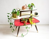 Tiered Plant Stand, Plant Stand, Mid Century Plant Stand, Plant Stand Tiered,Plant Stands Indoor, Vintage Plant Stand, Kidney Table