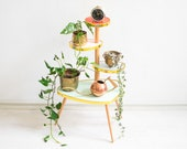 Plant Stand, Mid Century Plant Stand, Plant Stand Tiered, Tiered Plant Stand, Plant Stands Indoor, Vintage Plant Stand, Kidney Table, boho