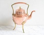 Copper Tea Pot, Copper Tea Kettle, Tea Vessel, Tea Pot, Copper Coffee Pot, Tea Kettle, Coffee Pot,Rustic Home Decor,Gift for Girlfriend