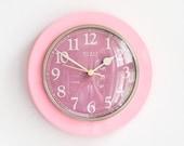 Pink Wall Clock by GDR Maker Weimar