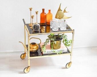 Vintage Bar Cart >> Vintage Serving Cart Etsy
