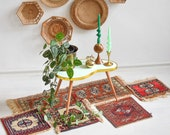 Indoor Plant stand, plant stool, green kidney table, indoor plant stand, mid century coffee table, plant tables stands, tripod planter