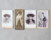Vintage Portraits, 19th Century Photographs, Women 19th century, Turn of the Century Photographs, Belle Epoque, Black and White Photographs