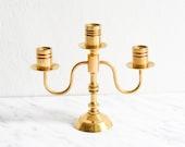 Brass Candle Stick, Brass Candelabra, Brass Decor, Candelabra Centerpiece, Vintage Candle holder, Brass Candleholder, Taper Candle Holder