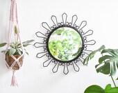 Sunburst Mirror, Wall Mirror, Hallway Mirror, Large Wall Mirror, Starburst Mirror, Rustic Mirror, Metall Mirror, Black Mirror, Home Decor