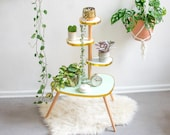 Pastel plant stand in 60s design with 4 tiers