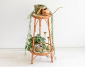 Bamboo Marble plant stand, Plant stand, marbled plant holder rattan, boho rattan, tiered plant stand, rattan plant holder, planter holder