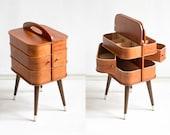 Wooden sewing box, sewing basket, sewing box, wooden sewing basket, storage box, jewelry organizer, sewing storage, organizer box