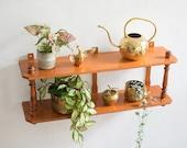 Vintage Wooden Hanging Shelf