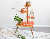 Tiered Plant Stand in Mid-Century Design