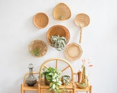 Vintage Wicker Wall Basket Collection