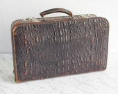 Small Vintage Leather suitcase