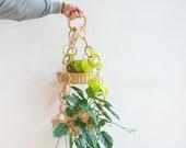 Plant hanger, Rattan hanging planter, wall mounted planter, wicker planter, wall planter rattan, boho planter, wall hanging plant