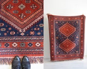 Large Oriental Red Woven Carpet
