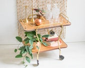 Formica bar cart, bar cart, modern bar cart, bar serving cart, antique cart, bar cart vintage, serving cart, bar cart on wheels