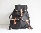 Vintage backpack, army backpack, canvas bag, hiking backpack, black backpack, large backpack, vintage rucksack, hiking rucksack, hiking bag
