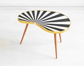 Striped kidney table