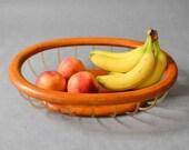 Vintage teak bowl, teak fruit bowl,fruit bowl, teak decor 60s, teak bowl, wooden dish, wooden bowl, teak fruit bowl, mid century teak decor