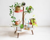 Multi-tiered Plant Stand,Tiered Plant Stand,Mid Century Plant Stand,Plant Stand Tiered,Plant Stands Indoor,Vintage Plant Stand, Kidney Table