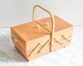 Knitting Basket, Sewing Box, Wooden Jewelry Box, Jewelry Organizer, Jewelry Storage, Sewing Basket, Storage Box, Keepsake Box, Make Up Box