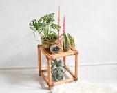 Bamboo plant stool, bamboo stool, wooden stool, bamboo plant stand, bamboo decor, bamboo decor, rustic stool, rustic decor, bamboo decor