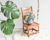 Vintage kids chair, small chair, flower stool, school chair, mini stool, chair for flower decoration, small wooden chair, wooden stool